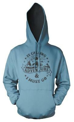 Bnwt Adventure Is Calling I Must Go Mountain   Hoodie Hood Kids Childs  3-12 Yrs