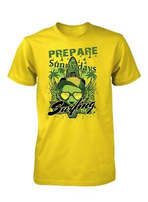 Bnwt Prepare For Sunny Days Surfin Surf Holiday Funky  Kids T Shirt 3-15 Years