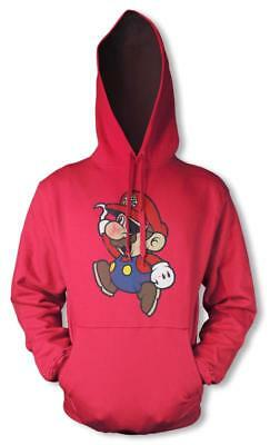 Mario Bros Nintendo Pirate Mash Up Gaming Hoodie Hood Kids Unisex  3-12 Yrs