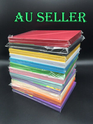 100 X 180gsm A4 Coloured Card Cardboard Craft Paper Making Cardstock Premium
