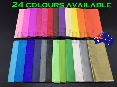 Bulk 10-200 sheets Tissue Paper Gift Wrap Wrapping Craft Paper Gold Silver L