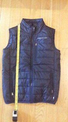 Vineyard Vines vest  youth large 16-18 navy blue vest lightweight full zipper