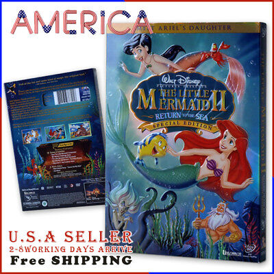 NEW The Little Mermaid II - Return to the Sea 1DVD FREE SHIPPING NOW USA SELLER