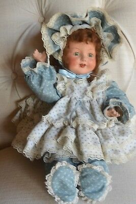 "Vintage 20""  E.i.h.co, Inc.composition Doll Sleep Eyes Teeth Crier"