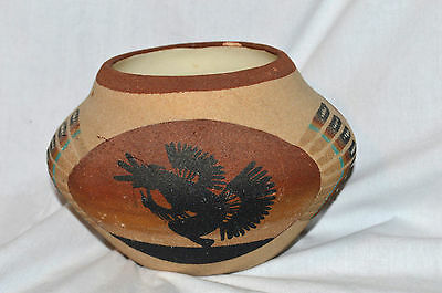 Junior Whiterock Native American Dine, Navajo Sand Painting Pottery