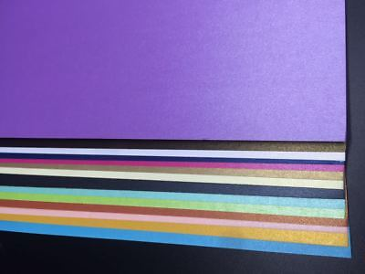 10 X 250gsm A4 Pearlised Cardstock Pearlescent Shimmer Card Craft Paper Colours