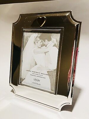 Lenox Photo Frame Silver With Accent Gold Heart 5 X 7