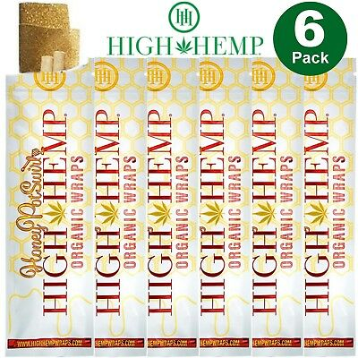 High Hemp Organic Hemp Wraps Honey Pot Swirl 6x (2 Wrap) Pouches Total 12 Wraps