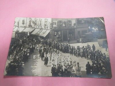 8646 57 Folpersviller Carte Photo Photographie Ancienne Defilee Rare