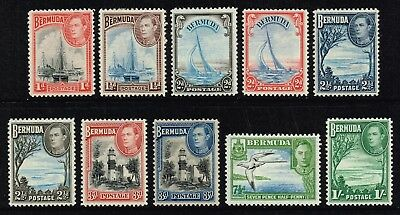 Bermuda 1938-52 King George VI set to 1s., MH (SG#110/115)