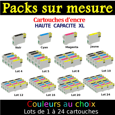 Epson WorkForce WF-2510WF - Pack cartouches compatibles Stylo à Plume non OEM