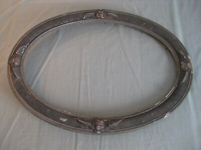 Antique Victorian Gothic Skull Large Oval Picture Frame Original Finish