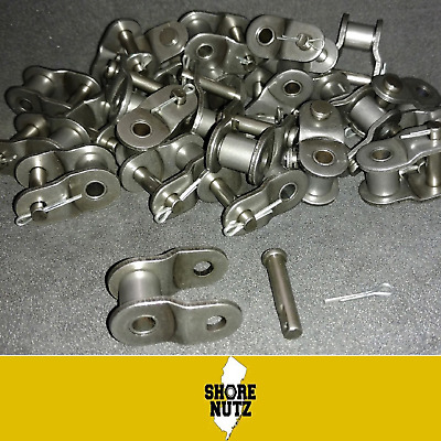 """#60 Chain Offset Link Qty 10 PIECES Half Link 3/4"""" Pitch 60O/L"""