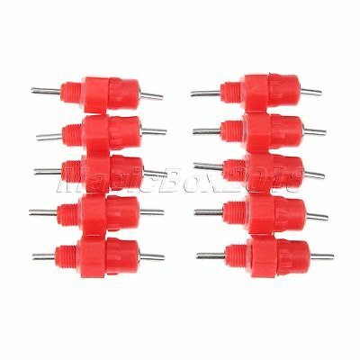 Automatic Red Poultry Drinker Dispenser Chicken Water Nipple Spring Type 10 PCS