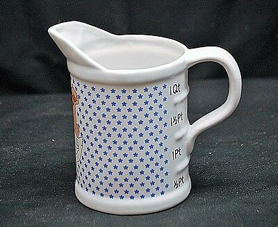 Classic 1 Quart Measuring Cup Pitcher w Geese Design Kitchen Tool Unknown Maker