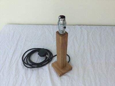 Handmade Solid oak bedside table or desk lamp-stand (single)