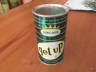 TOUGH - Get UP - 60's Vintage, Flat Top, PreZip Soda Can