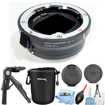 Sigma MC-11 Mount Converter Lens Adapter (Canon EF-Mount to Sony E) PRO BUNDLE