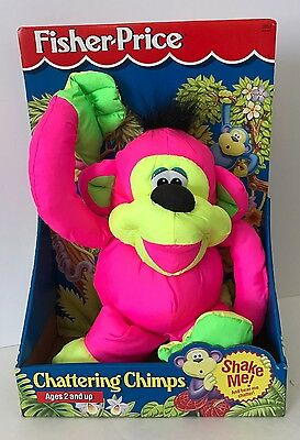 1994 Fisher Price Chattering Chimps New In Box Puffalump Plush 2853 Pink