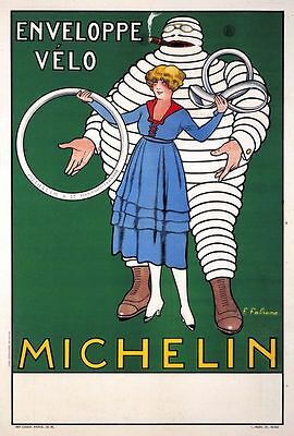 Vintage Michelin Tyre Advertisement Poster  A3 Print