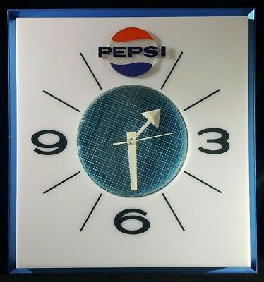 VINTAGE Rare Price Brothers Chicago Pepsi  Lights Up Clock Not Working