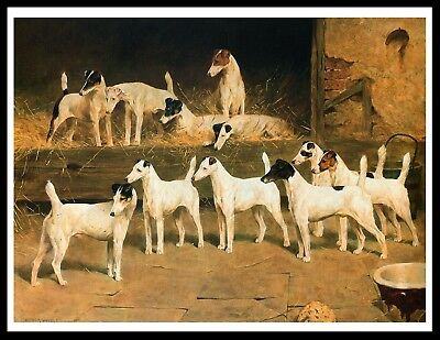 Smooth Fox Terrier Dogs The Totteridge Eleven Vintage Style Dog Art Print Poster