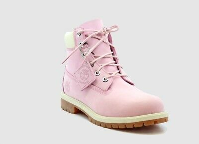 TIMBERLAND TB0A13WA661 6IN PREMWP BT P Jr's' (M) Pink Leather Waterproof Boots