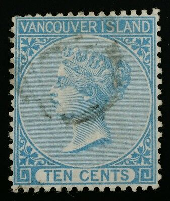British Columbia Vancouver Island #6 used numeral 1 cancel circa 1866-67