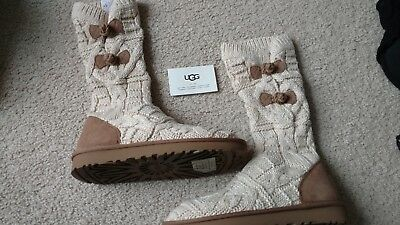 e8483f1883a UGG WOMEN'S KALLA (Size 7) Knit Sweater boots Fawn New With Box!