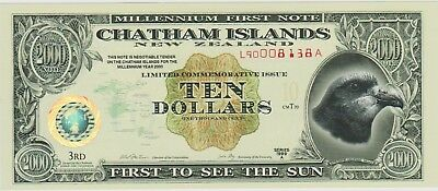 New Zealand Chatham Islands 10 dollars 1999 / Unc / PNL / polymer / (241) / Rare