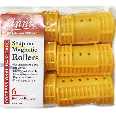 """Annie Snap On Magnetic Rollers #1220, 6 Count Orange Jumbo 1-1/2"""""""