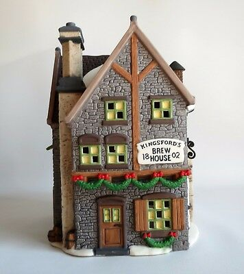 Dept 56 Dickens Village Series Kingsfords Brew House Pub Tavern ~ EXCLNT in box!