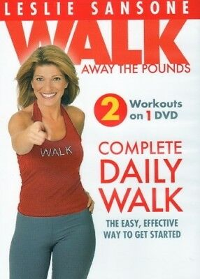LESLIE SANSONE WALK AWAY THE POUNDS COMPLETE DAILY WALK New DVD Morning Evening