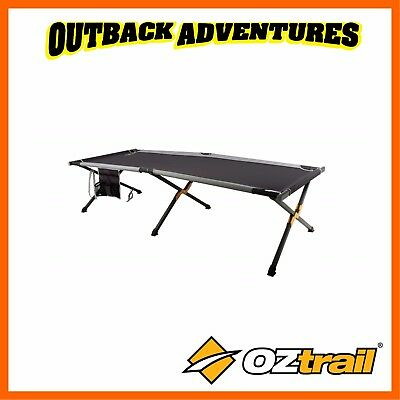 Oztrail Aluminium Jumbo Padded Stretcher - Outdoor Camping Cross Leg Camp Bed