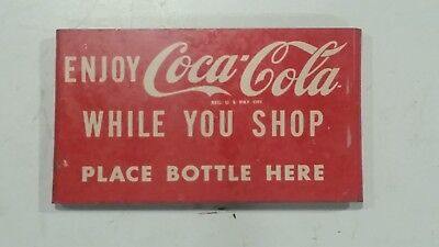 Enjoy Coca Cola While You Shop - Shopping Cart Coke Bottle Carrier Sign Only