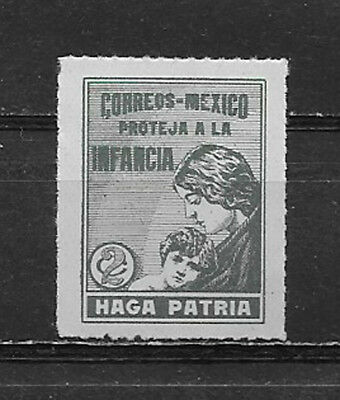 MEXICO , 1929 , POSTAL TAX STAMP , 2c  STAMP , PERF , MNH