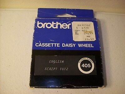 Brother Cassette Daisy Wheel, English Script 1012 Reorder #405