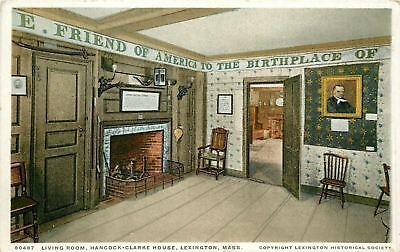 Lexington MA~Hancock-Clarke House~Musket Over Fireplace~Detroit Pub Co 1908 PC
