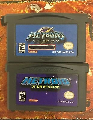 Metroid Fusion Zero Mission Lot Nintendo Gameboy ADVANCE GBA AUTH