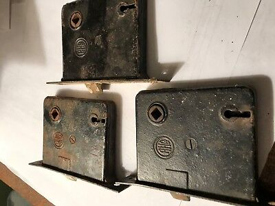 Antique RH Co. Cast Iron Mortise Lock