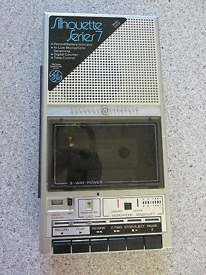 vtg General Electric Model 3-5157A Cassette Tape player Recorder NO POWER CORD