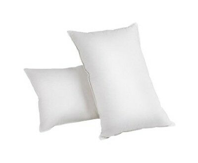 NEW 2x Hypo-allergenic Free Goose Feathers & Down Pillow White w/ Cotton Casing