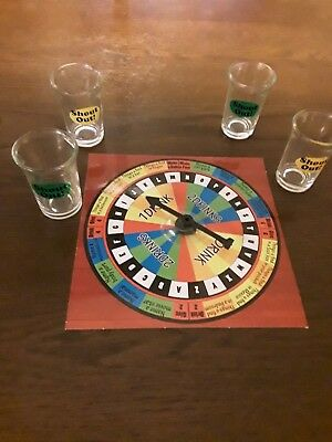Spinning Shot Glass Game Fun Categories 4 Glasses Included Shout Out NIB
