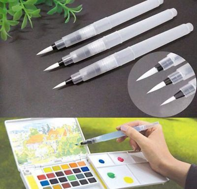 Set Refillable Pilot Ink Pen Water Brush for Paint Calligraphy Watercolor S M L
