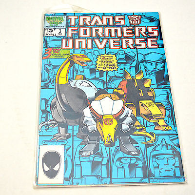 Transformers Universe #3 (Marvel Comics 12/86) Ungraded Dinobots 3 Comic Book