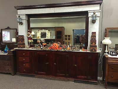 10Ft Antique Mahogany/marble Back Ice Cream Bar, With History