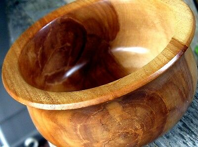 Wood Artisan Bowl Contemporary Modern Footed Birch Signed BEAUTIFUL!!