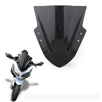 Windshield WindScreen Double Bubble For Kawasaki Ninja 300 EX300 13-16 Black AU
