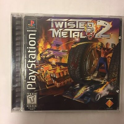 Twisted Metal 2 (Sony PlayStation 1, 1997) PS1 COMPLETE CIB Black Label