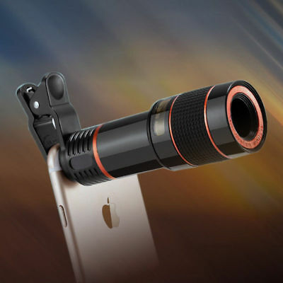 HD Clip-on 12x Optical Zoom Universal Telescope Camera Lens Cell Phone iPhoneM&C